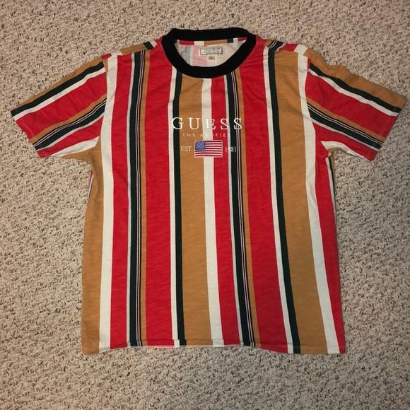 0351a02e75 Guess Shirts | La David Sayer Oversized Striped Tshirt | Poshmark